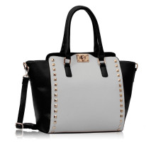 Kabelka Black / White Double- Handle Shoulder Tote Bag