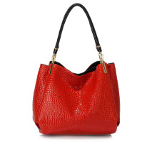 Kabelka Red Snake - Effect Shoulder Bag
