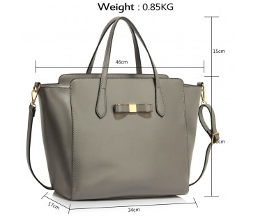Kabelka Grey Decorative Bow Tie Tote Shoulder Bag