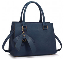 Kabelka Navy Grab Bag With Bow Charm