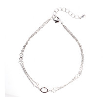 Náramek Silver Plated Fashion Crystal Bracelet