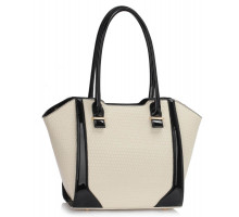 Kabelka Cream Structured Shoulder Bag