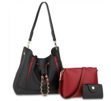 Kabelka 3 kusový set Black / Burgundy Women's Fashion Handbags