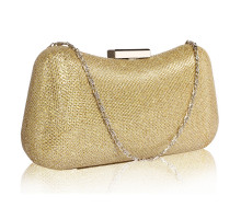 Psaníčko Gold Hard Case Evening Bag