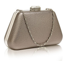 Psaníčko Grey Diamante Crystal Clutch Bag