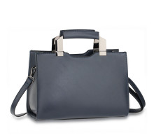 Kabelka Navy Anna Grace Fashion Tote Bag With Black Metal Work