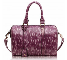 Kabelka Purple Medium Barrel Handbag