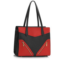 Kabelka Black / Red Buckle Detail Shoulder Bag