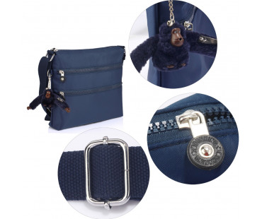 Kabelka Navy Cross Body Shoulder Bag With Bag Charm