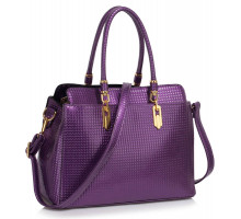 Kabelka Purple Women's Tote Bag With Polished Hardware