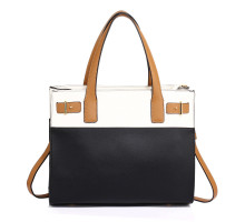 Kabelka Black / White Tote Shoulder Handbag