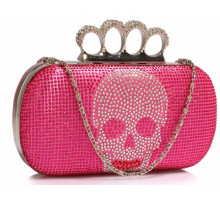 Psaníčko Pink Women's Knuckle Rings Evening Bag