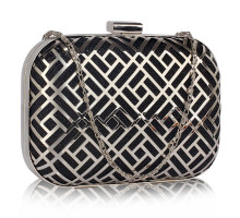 Psaníčko Black Metal Mesh Clutch Bag
