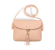 Kabelka Pink Flap Cross Body Tassel Shoulder Bag