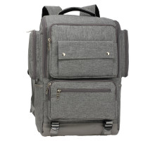 Batoh Grey Backpack Rucksack School Bag - šedý