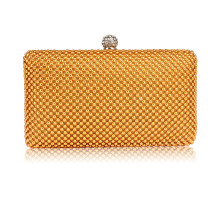 Psaníčko Gold Crystal Beaded Evening Clutch Bag