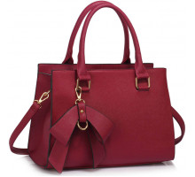 Kabelka Burgundy Grab Bag With Bow Charm