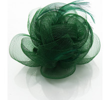 Ozdoba do vlasů Green Feather & Flower Fascinator