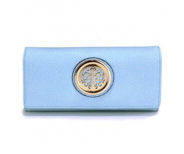Peněženka Blue Purse/Wallet with Metal  Decoration - modrá