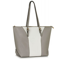 Kabelka Large Grey / White Shoulder Handbag