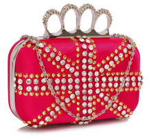 Psaníčka Fuchsia Women's Knuckle Rings Evening Bag