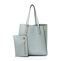 Kabelka Blue Tote Bag With Removable Pouch - modrá