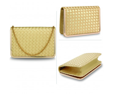 Psaníčko Gold Flap Evening Clutch Bag - zlaté
