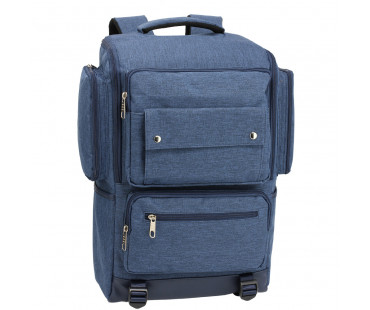 Batoh Navy Backpack Rucksack School Bag - modrý