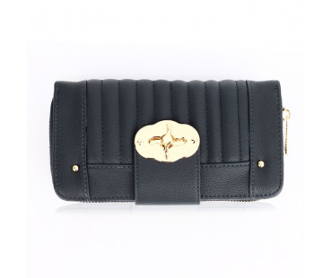 Peněženka Navy Zip Round Twist Lock Purse/Wallet