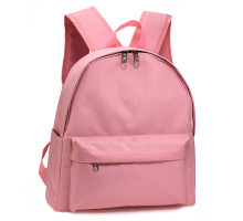 Batoh Pink Unisex Backpack School Bag - růžový