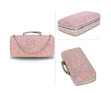 Psaníčko Champagne Glitter Evening Wedding Clutch Box