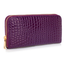 Peněženka Purple Crocodile Pattern Purse