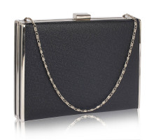 Psaníčko Black Hard Case Evening Bag - černé