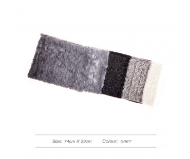Šála Grey Women's Faux Fur Trim Winter Scarf