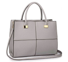 Kabelka L&S Fashion Large Grey Fashion Tote Handbag