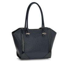 Kabelka Navy Structured Shoulder Bag - modrá