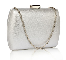 Psaníčko Silver Hard Case Evening Bag