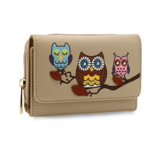 Peněžeka Nude Flap Owl Design Purse / Wallet