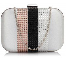 Psaníčko Nude Clutch Bag With Diamante Decorative Strips