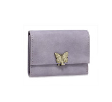 Peněženka Purple Flap Metal Butterfly Design Purse / Wallet