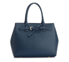 Kabelka Navy Tote Handbag Features Buckle Belts
