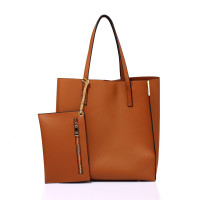 Kabelka Brown Tote Bag With Removable Pouch - hnědá