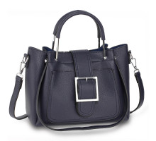 Kabelka Navy Grab Tote Bag With Silver Metal Work