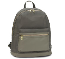 Batoh Grey Unisex Backpack School Bag - šedý