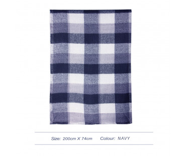 Šála Navy Women's Check Print Winter Scarf - nám. modrá