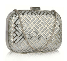 Psaníčko Silver Metal Mesh Clutch Bag