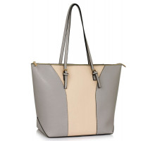 Kabelka Large Grey / Nude Shoulder Handbag
