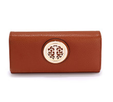 Peněženka Brown Purse/Wallet with Metal Decoration - hnědá
