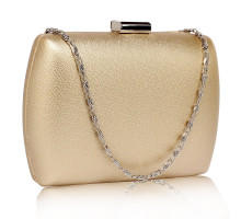 Psaníčko Gold Hard Case Evening Bag - zlaté