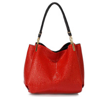 Kabelka Red Snake Effect Shoulder Bag